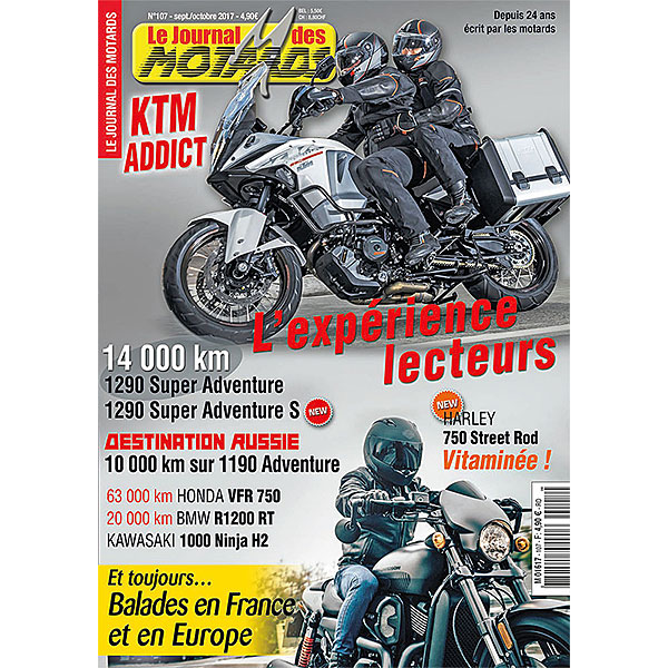 LE JOURNAL DES MOTARDS n°107 - septembre/octobre 2017